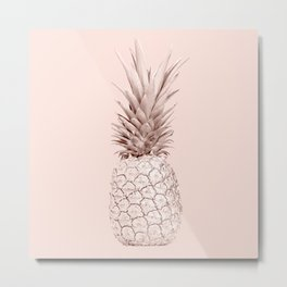 Pink Gold Pineapple Metal Print