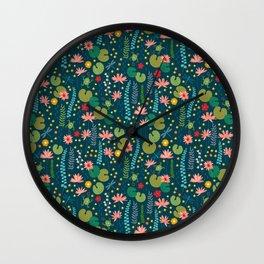 Lily Pad Wall Clock