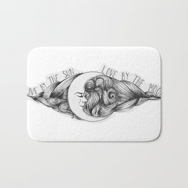 Live by the Sun, Love by the Moon Bath Mat