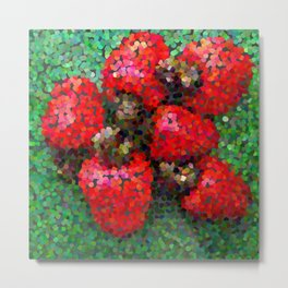 Pixelated Cashews Metal Print