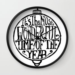 It's The Most Wonderful Time Of The Year Wall Clock