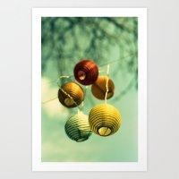 Lampions Art Print