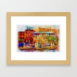 Thames Street impression, Fells Point, Baltimore Framed Art Print