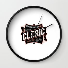 The Cleric Wall Clock