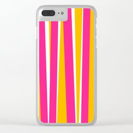 Chewy Candy Stripes Clear iPhone Case