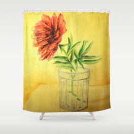 flower in a glass . illustration  ( https://society6.com/totalflora/collection ) Shower Curtain