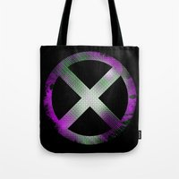x men Tote Bags featuring X-Men by Trey Crim