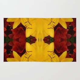 """""""A Gathering of Lilies"""" Remix - 2 (4-1) [D4466~24] Rug"""