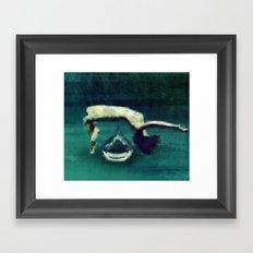In the depths Framed Art Print