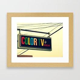 Color TV Framed Art Print