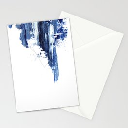 Blue abstract nr1 Stationery Cards