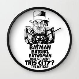 Classic Oswald Cobblepot: The Penguin Wall Clock
