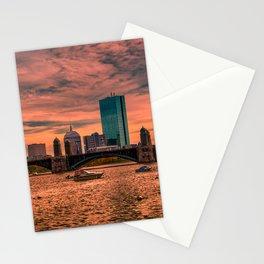 Longfellow Bridge , Boston, Massachusetts Stationery Cards