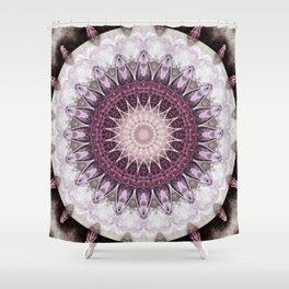 Mandala grey to purple Shower Curtain