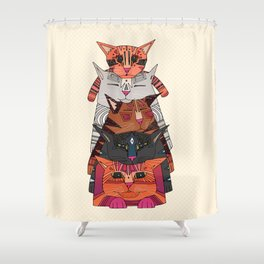 pile of cats Shower Curtain