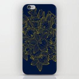 Daffodils by Night iPhone Skin