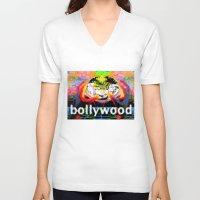 cyberpunk V-neck T-shirts featuring Bollywood Cyberpunk by BOLLYWOOD