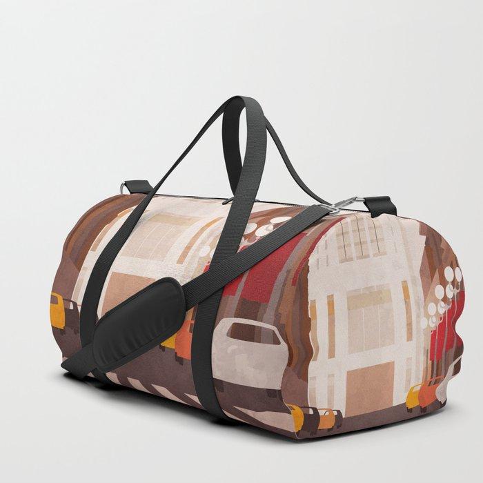 New York Manhattan watercolor Duffle Bag