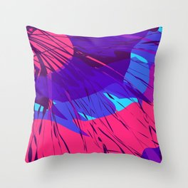 Night Sky Spilling on Earth Purple Abstract Throw Pillow