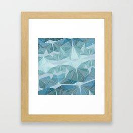 Winter geometric style - minimalist Framed Art Print