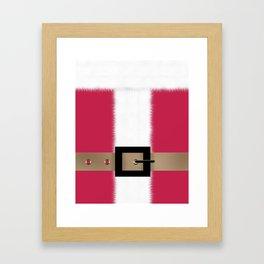 Christmas , Santa Claus , red Framed Art Print