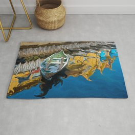 Norwegian Row Boat And Reflections Rug