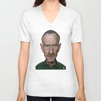 actor V-neck T-shirts featuring Celebrity Sunday ~ Bryan Cranston by rob art | illustration