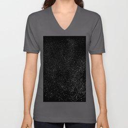 Black Night Glitter #1 #shiny #decor #art #society6 Unisex V-Ausschnitt