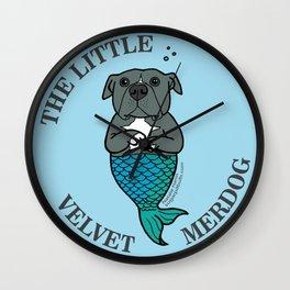 The Little Velvet Merdog Wall Clock