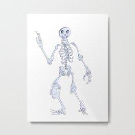 Happy skeleton Metal Print