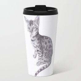 Bengal Cat Drawing Travel Mug