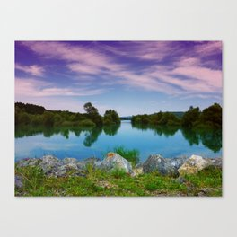 Lake in France Canvas Print