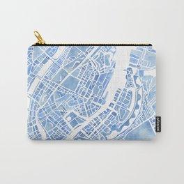 Copenhagen Denmark watercolor city map Carry-All Pouch
