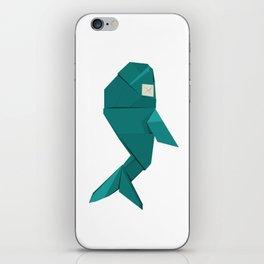Origami Whale iPhone Skin