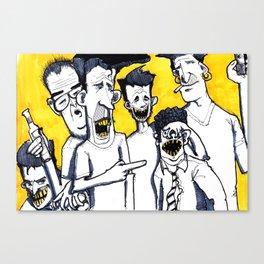 Drunk boys Canvas Print