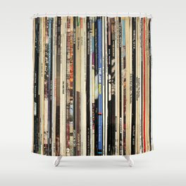 Classic Rock Vinyl Records Shower Curtain