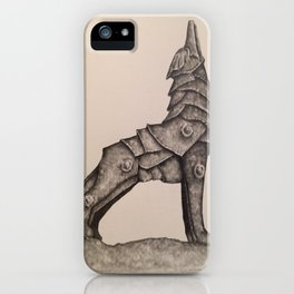 armored wolf iPhone Case