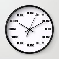 givenchy Wall Clocks featuring I FEEL LOVE by cvrcak
