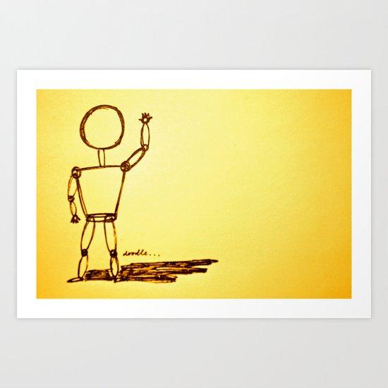 Mr. Doodle... Art Print