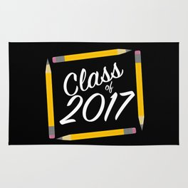 Class of 2017, white font Rug
