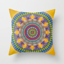 Summer in KB/Juicy/The Yellow One Throw Pillow