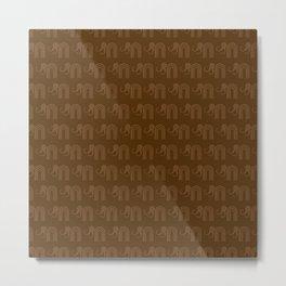 Mammoth Pattern Metal Print