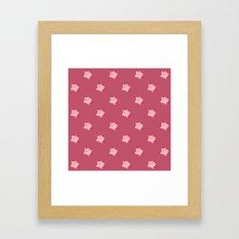 The cutest evil demon ever! pattern Framed Art Print