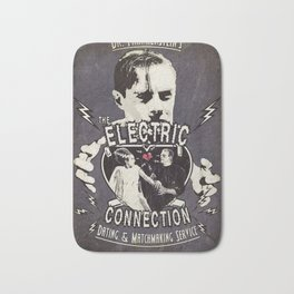Dr. Frankenstein's The Electric Connection: Dating & Matchmaking Service- Old Metal Sign Bath Mat