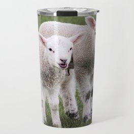 Cute Spring Lambs Travel Mug