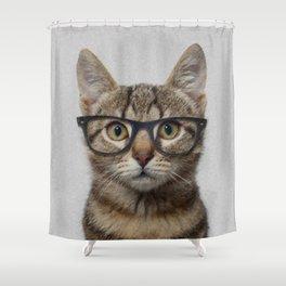 Geek cat Shower Curtain