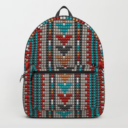 Stitched colorful aztec motif pattern Backpack