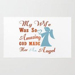 My Wife is an Angel Rug