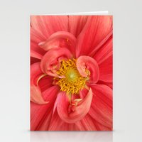 dahlia Stationery Cards featuring Dahlia by KunstFabrik_StaticMovement Manu Jobst