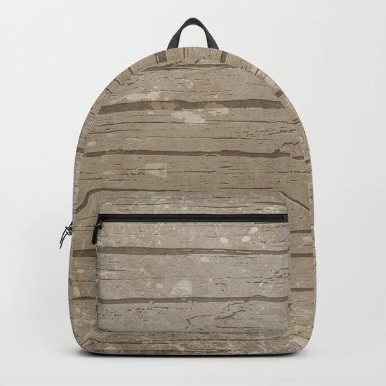 Nautical Driftwood Wood Grain Pattern Backpack